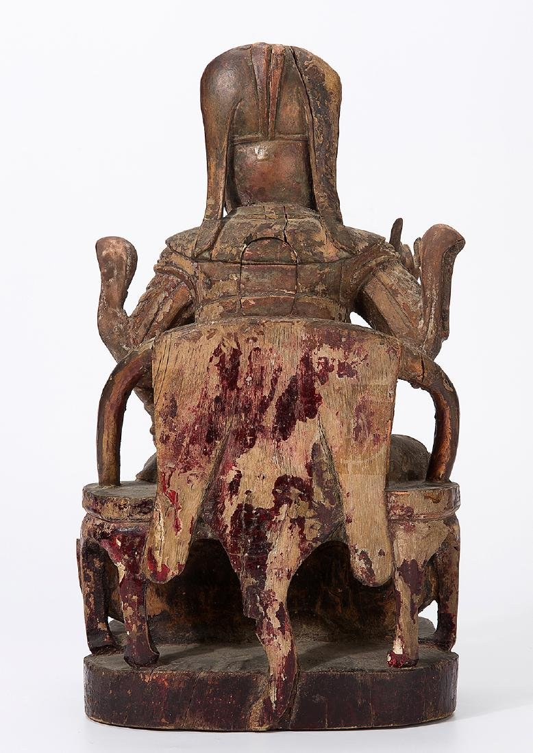 CHINA QING DYNASTY 18TH CENTURY A CARVED WOOD FIGURE OF - 3