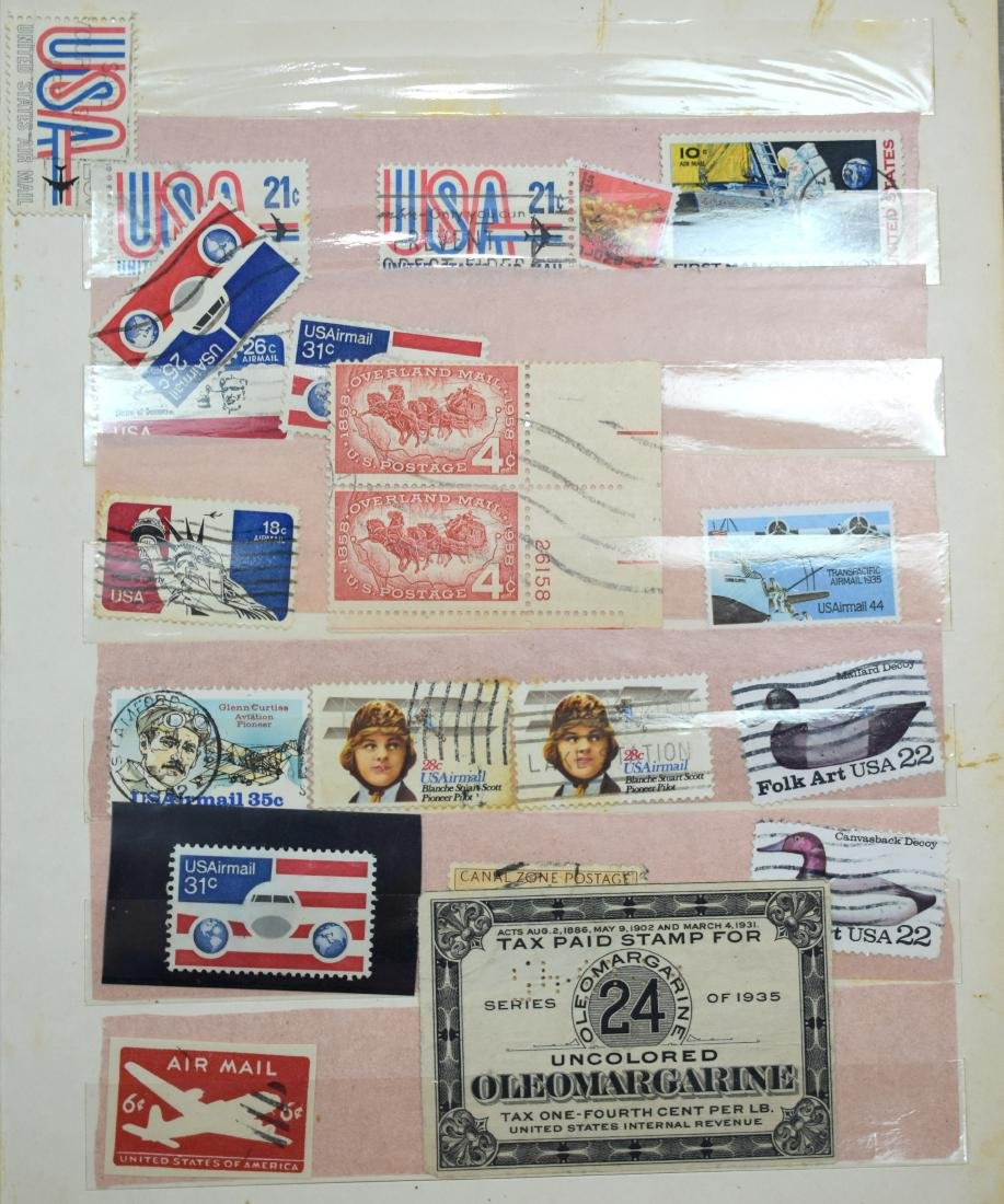 USA Stamp Album containing tens and hundreds of stamps - 2