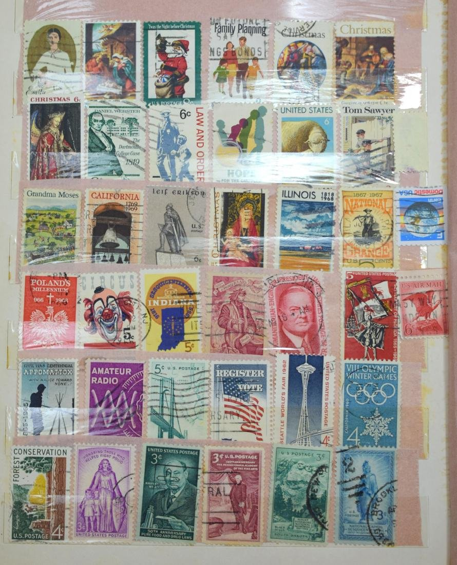 USA Stamp Album containing tens and hundreds of stamps - 4