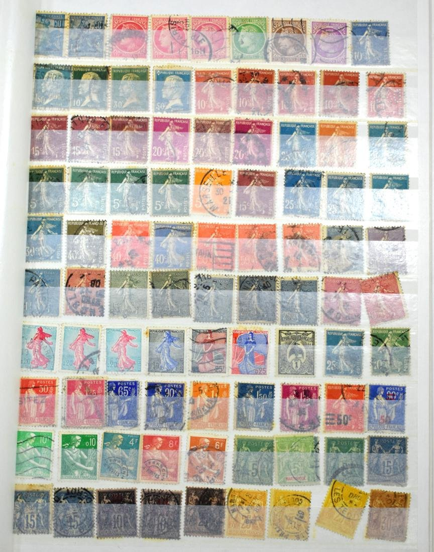 French and Czech Stamp Albums containing tens of stamps