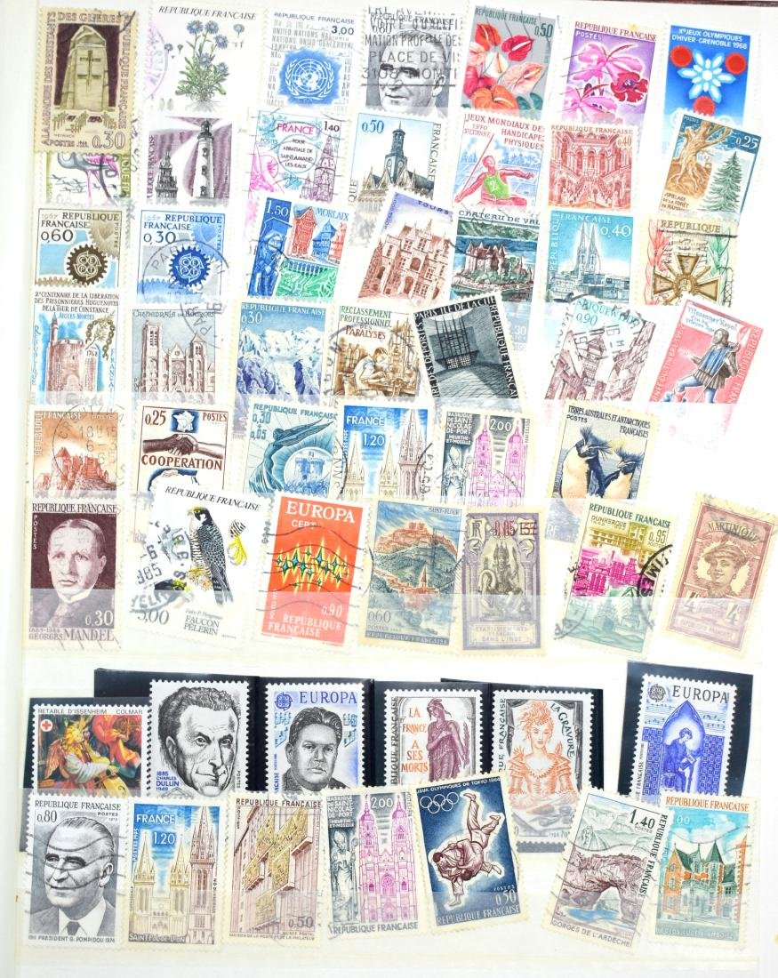 French and Czech Stamp Albums containing tens of stamps - 4