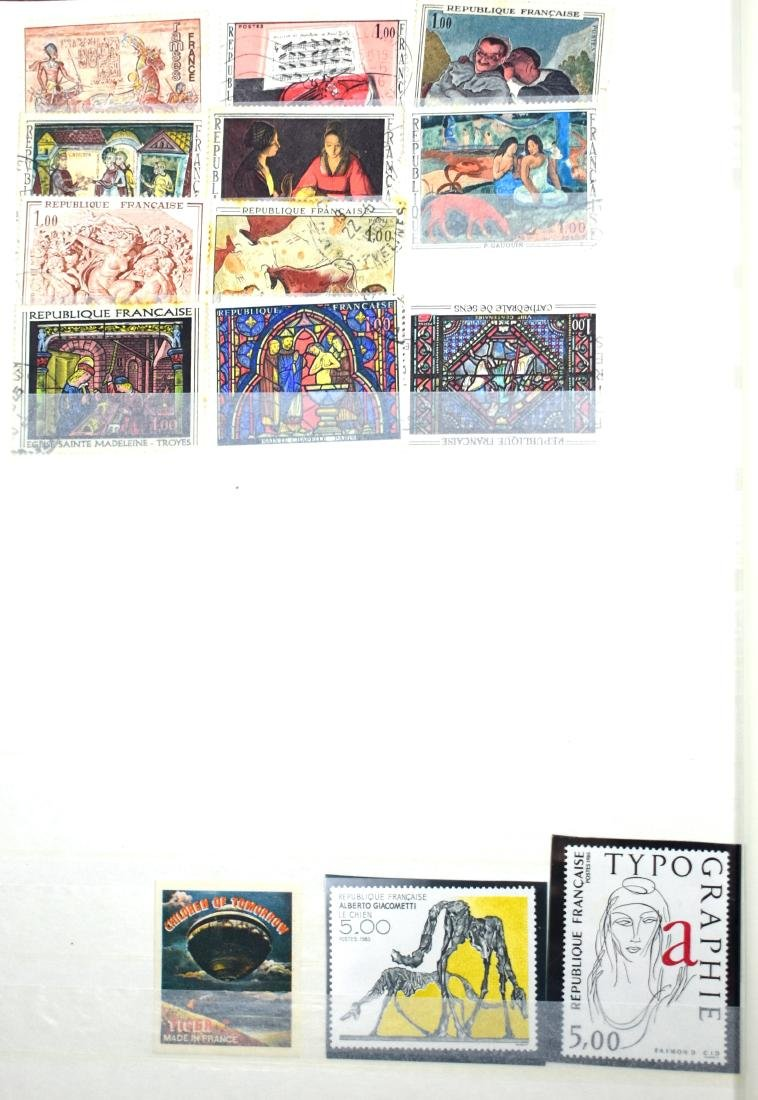 French and Czech Stamp Albums containing tens of stamps - 6