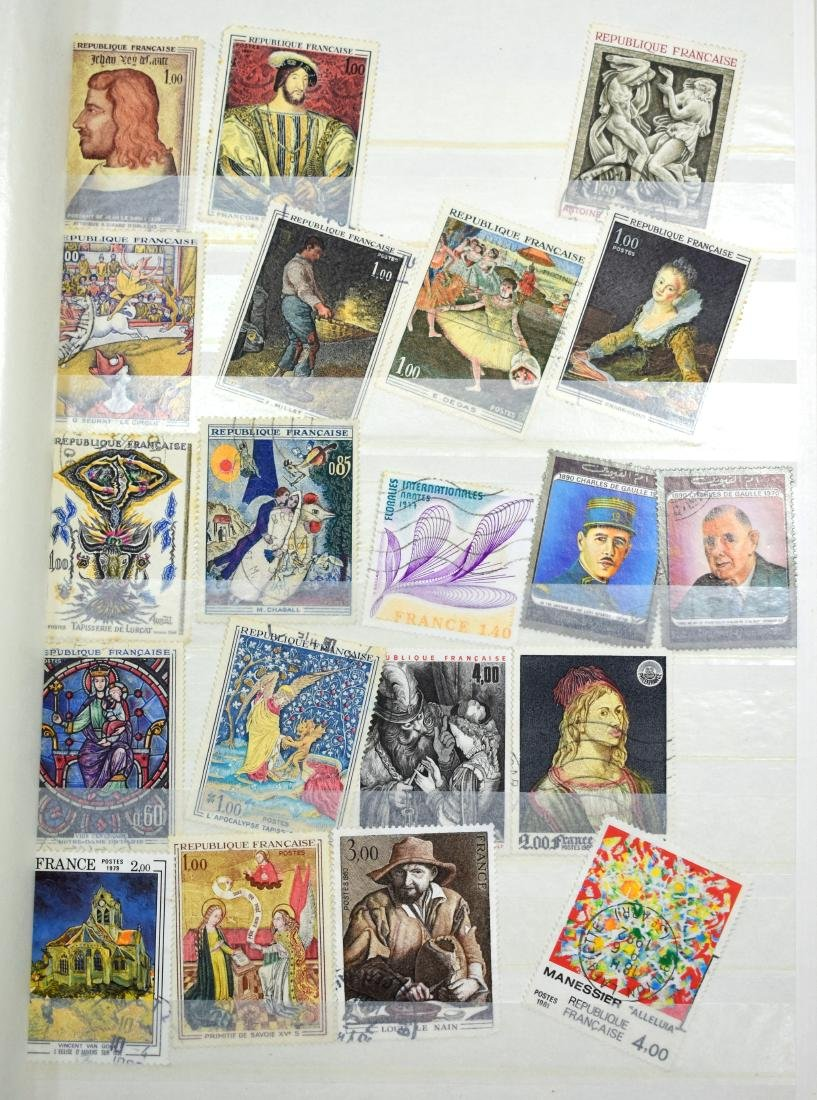 French and Czech Stamp Albums containing tens of stamps - 7