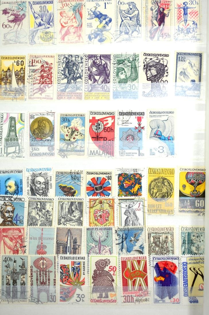 French and Czech Stamp Albums containing tens of stamps - 9