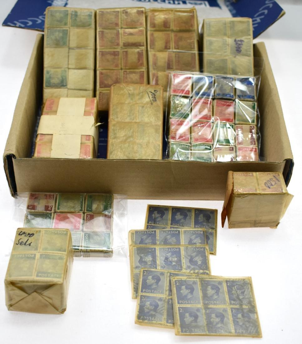 12000$.   British stamps 1936 King Edward VIII, packs - 2