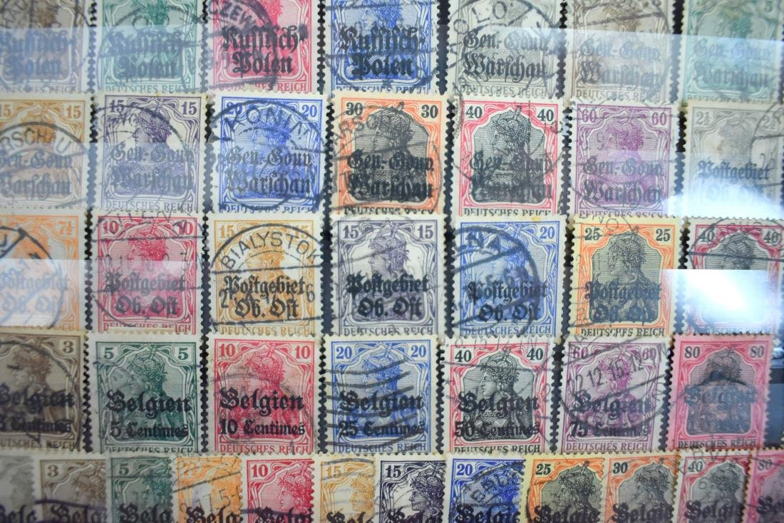 Stamps of German Rule in Poland, Lithuania and Belgium. - 2