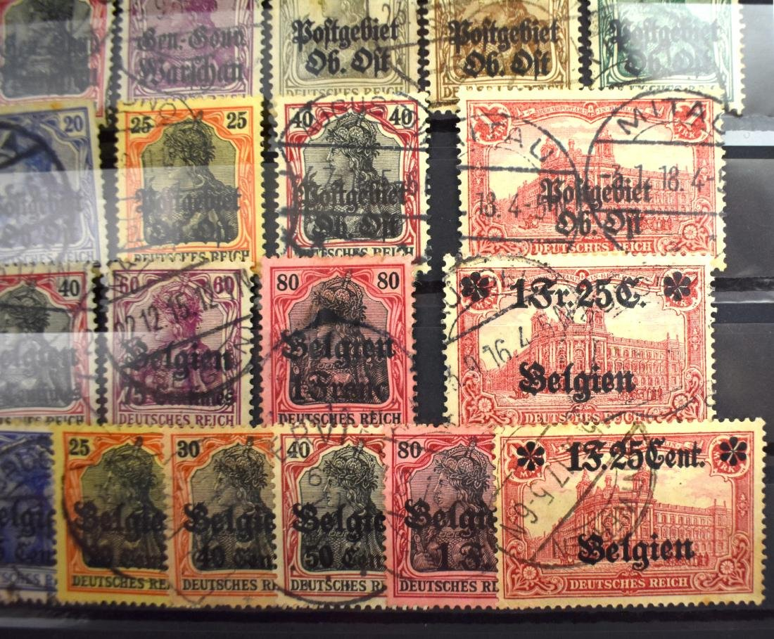 Stamps of German Rule in Poland, Lithuania and Belgium. - 3