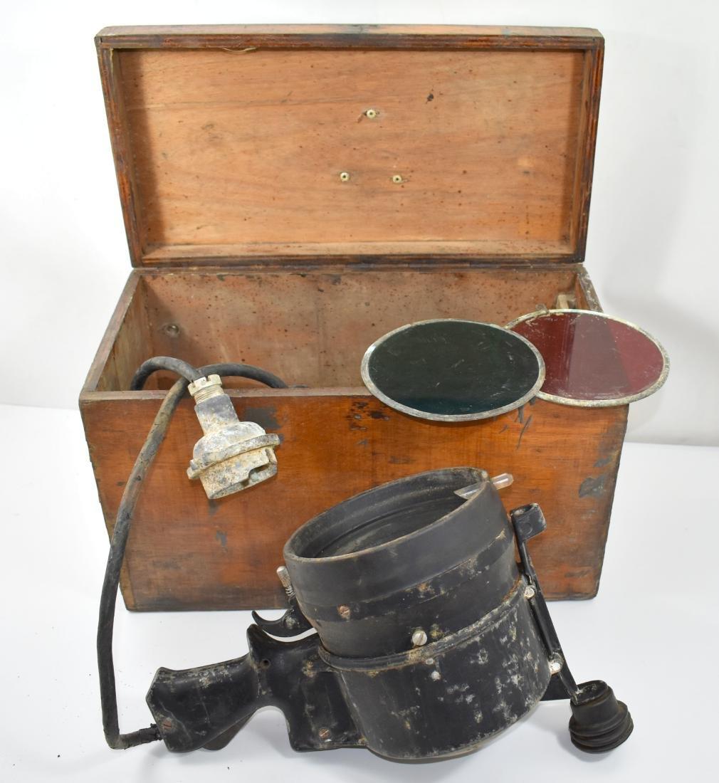 Martime signal flashlight in its original case (Morse