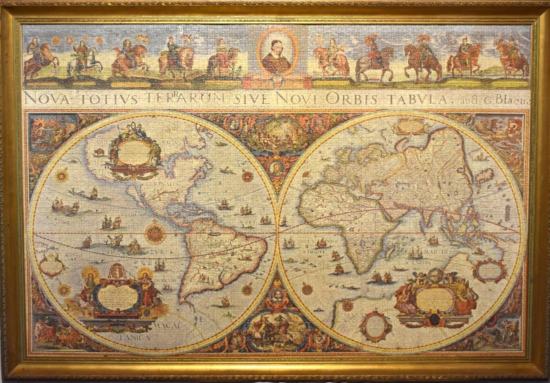 Jigsaw puzzle picture of the world.