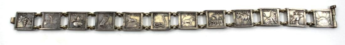 Silver bracelet of the 12 Tribes