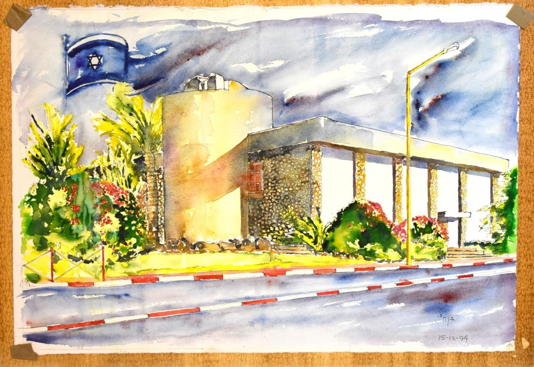 Watercolorl on canvass, signed by Ben Chai, size 39*57