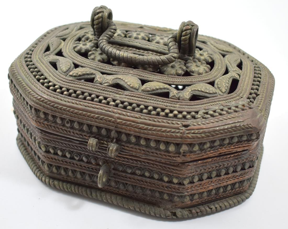 .  Decorative jewelry box, made of metal