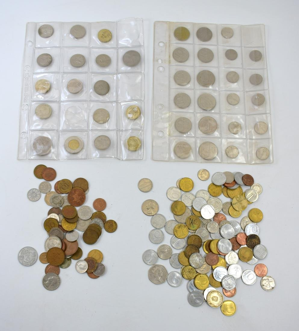 Lot of different coins
