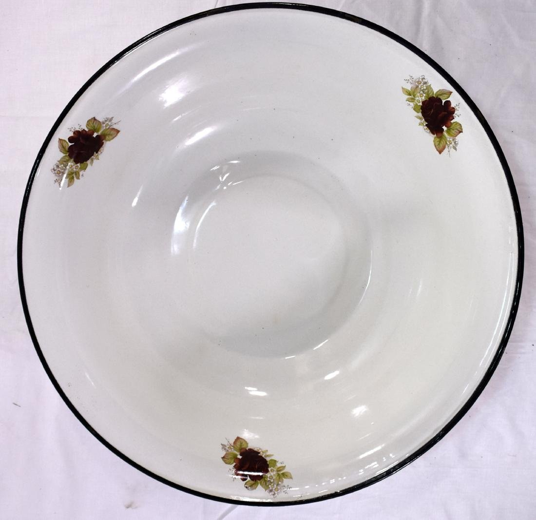Pair of old enamel plates
