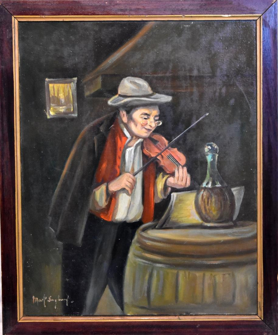 oil painting on canvass, signed, size 50*40