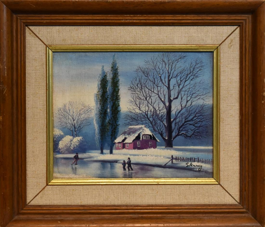 oil painting on canvass, signed, size 25*20