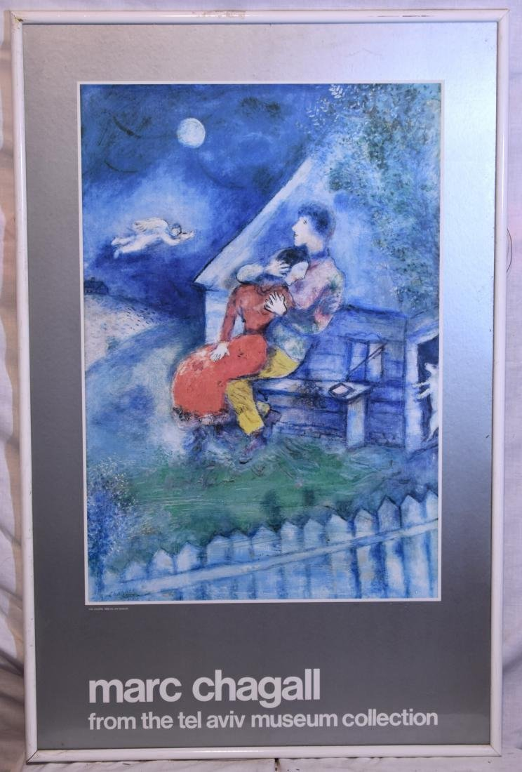 Framed poster of Marc Chagall, size: 60*35