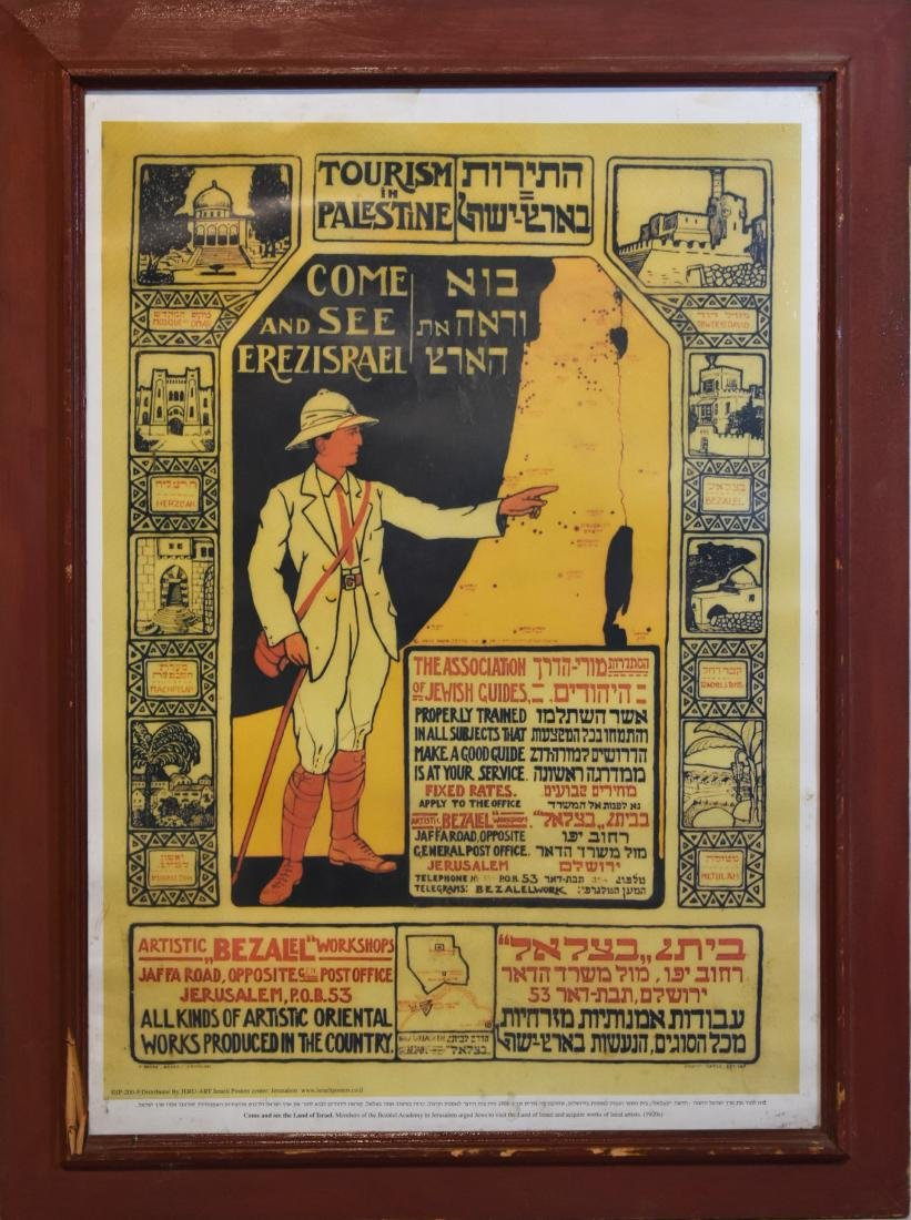.     Framed poster, replica of proclamation regarding