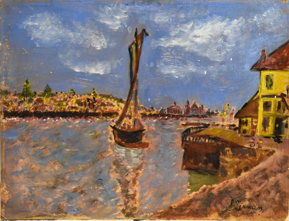 Oil painting, old European, signed, 48*63