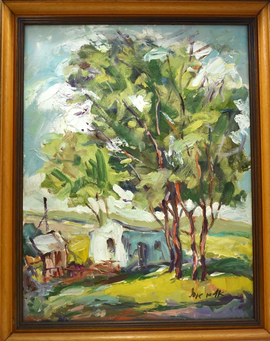 .  oil painting on canvass by Eliyahu Adler, size 43*56