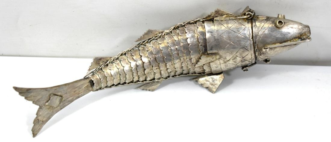 Fish lucky charm, made of silver for spices (Besamim)
