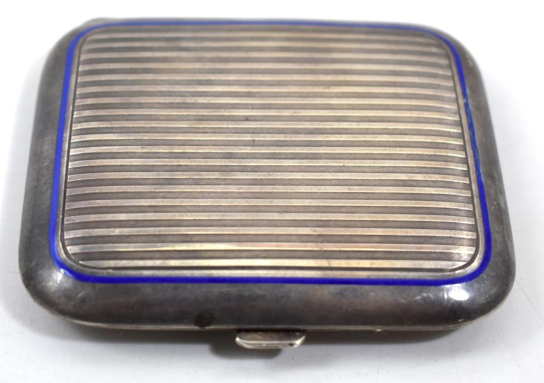 .        Silver cigarette box, halmarked, Genera 935,