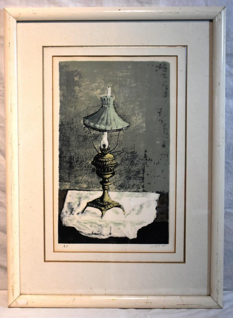 Yossel Bregner, lithograph, signed, numbered AP, size