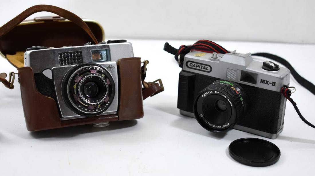 Pair of vintage cameras, Capital and Agfa