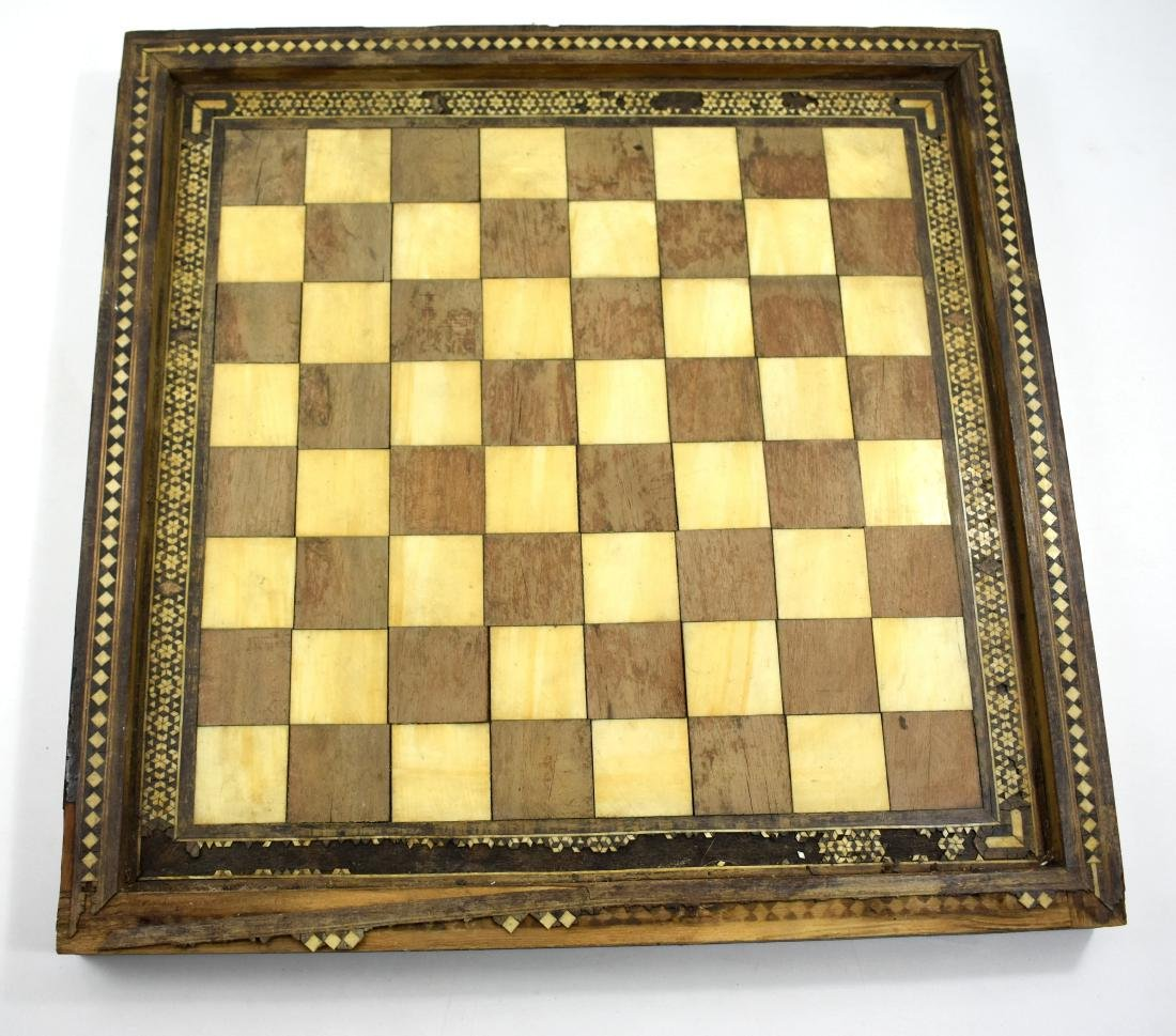 .  Wooden Chess board, mosaic work, 40*40