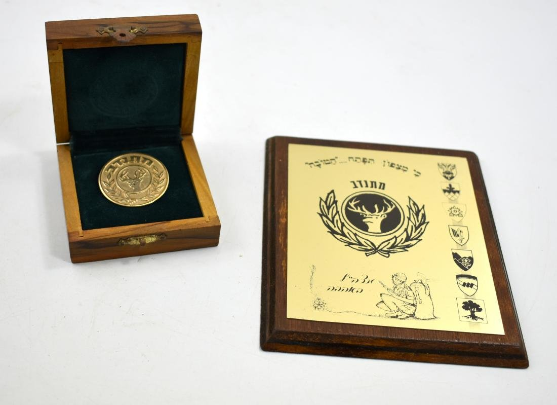 Pair of iDF souvenirs for volunteers, medallion and