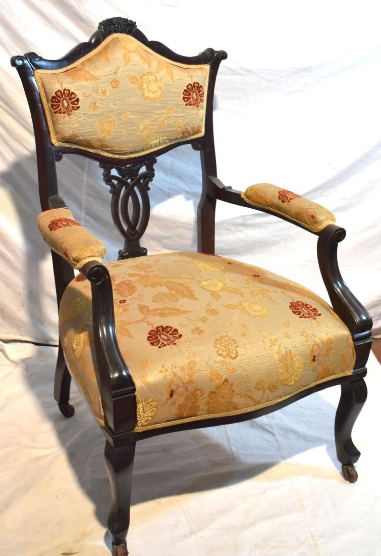 . Victorian armchair, reupholstered, in excellent