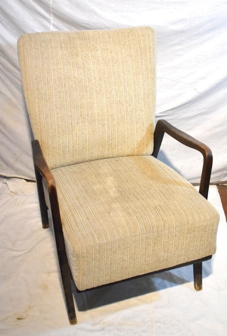 French armchair, from around 1900, reupholstered, cream