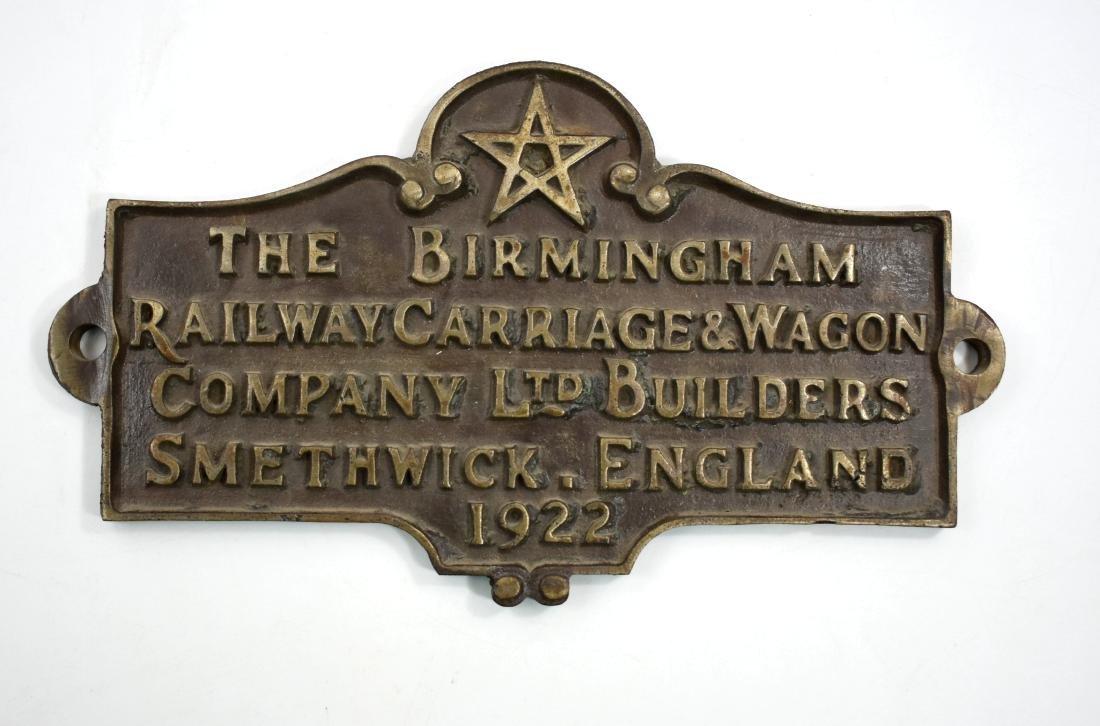 .  Copper plaque of the train, Pa;lestine 1922