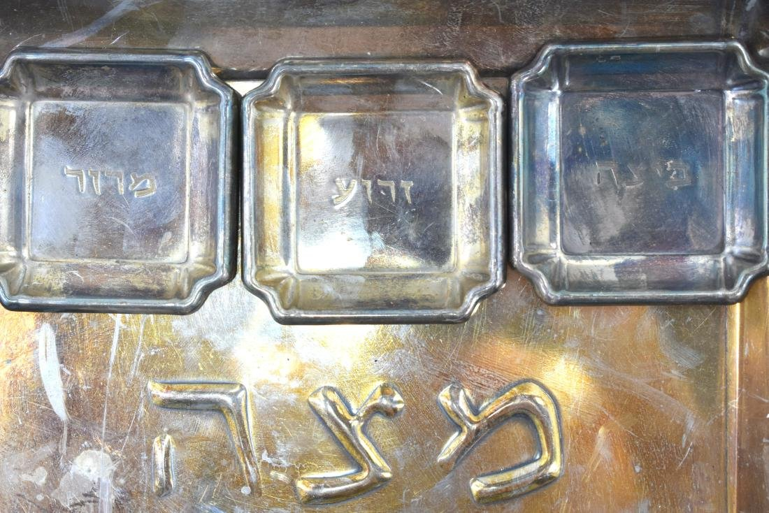 Pair of plates for Pesach, copper, green patina, 1. - 9