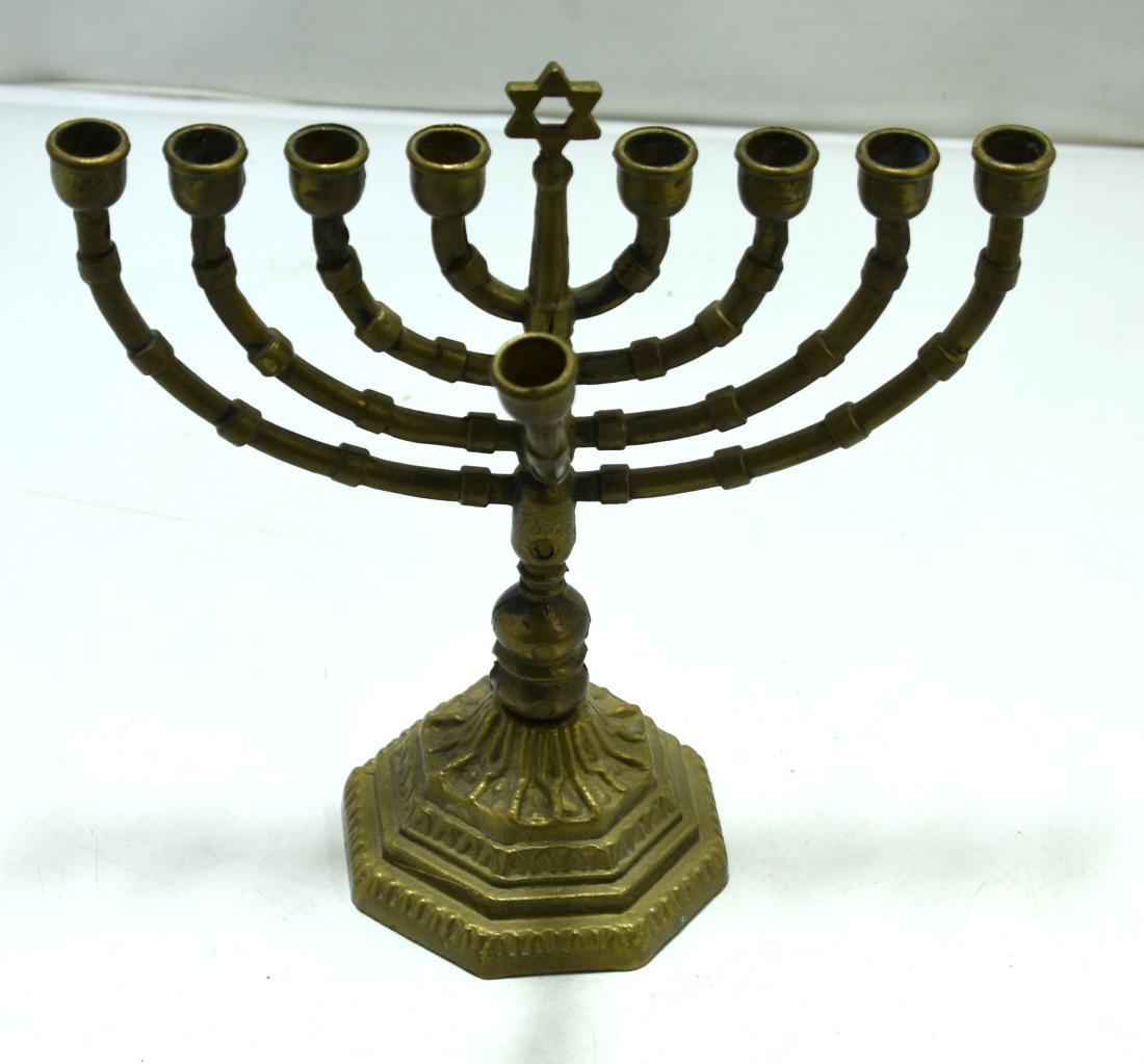 Judaica, Hanukiya,  German bronze, beginning of 20th