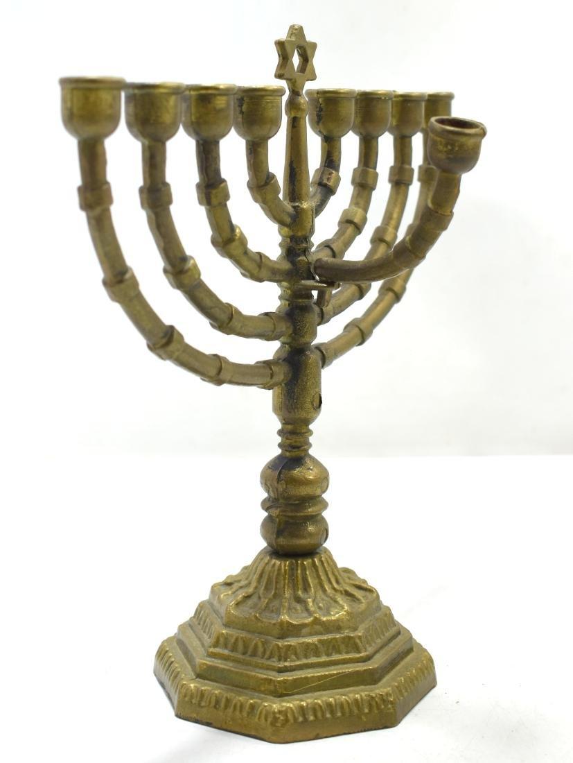 Judaica, Hanukiya,  German bronze, beginning of 20th - 2