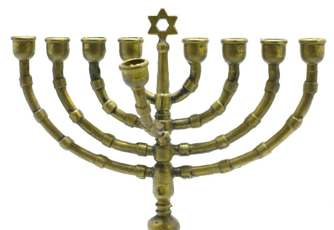 Judaica, Hanukiya,  German bronze, beginning of 20th - 3