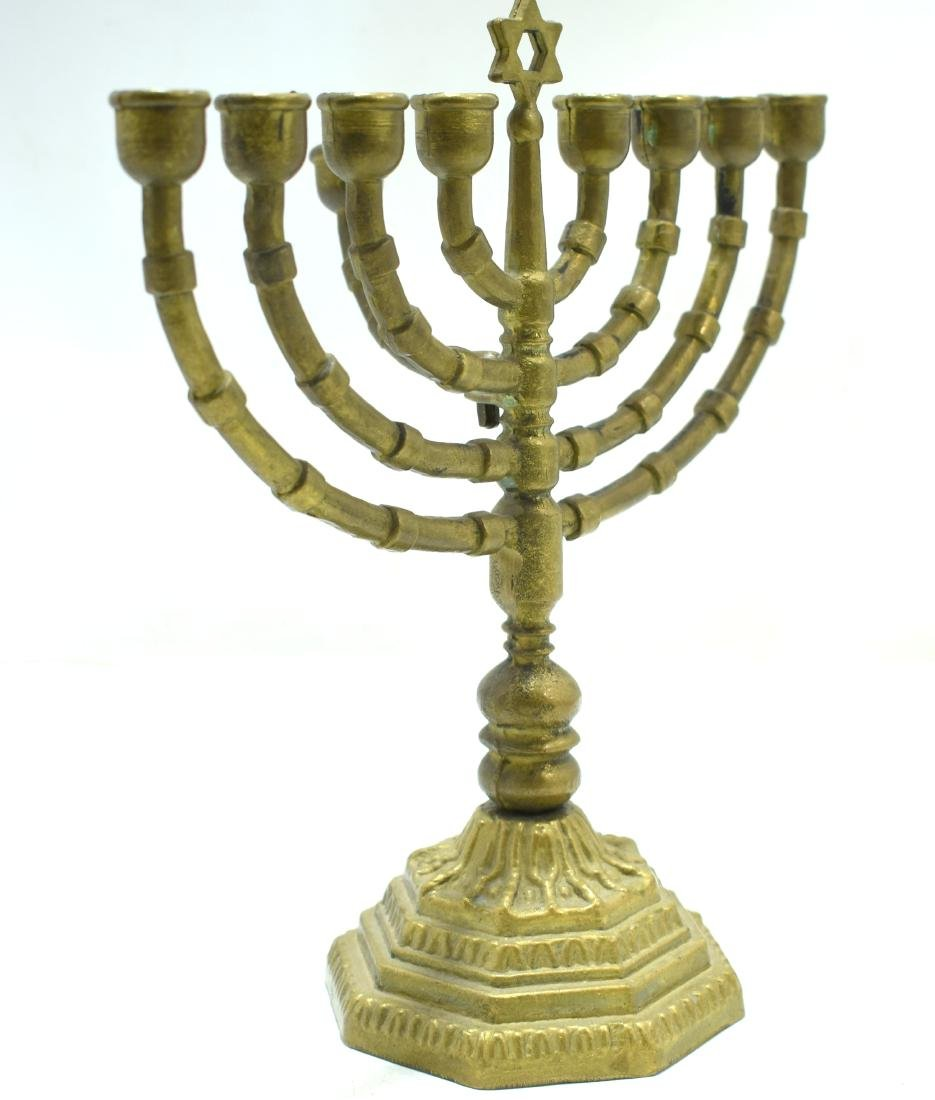 Judaica, Hanukiya,  German bronze, beginning of 20th - 4