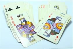 A pair of cards designed by Jean David (Bar-Kochba).