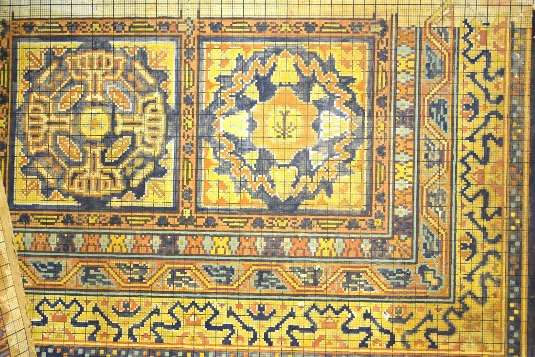 3 Waves (examples) of Bezalel carpets, signed by - 2