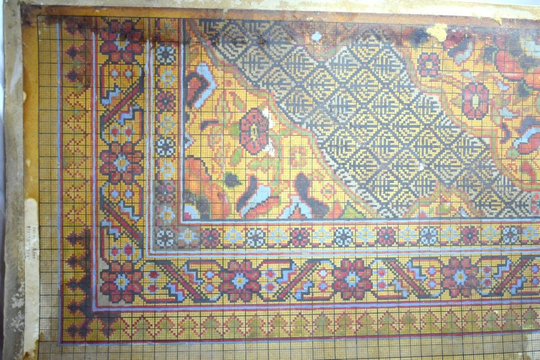 3 Waves (examples) of Bezalel carpets, signed by - 3
