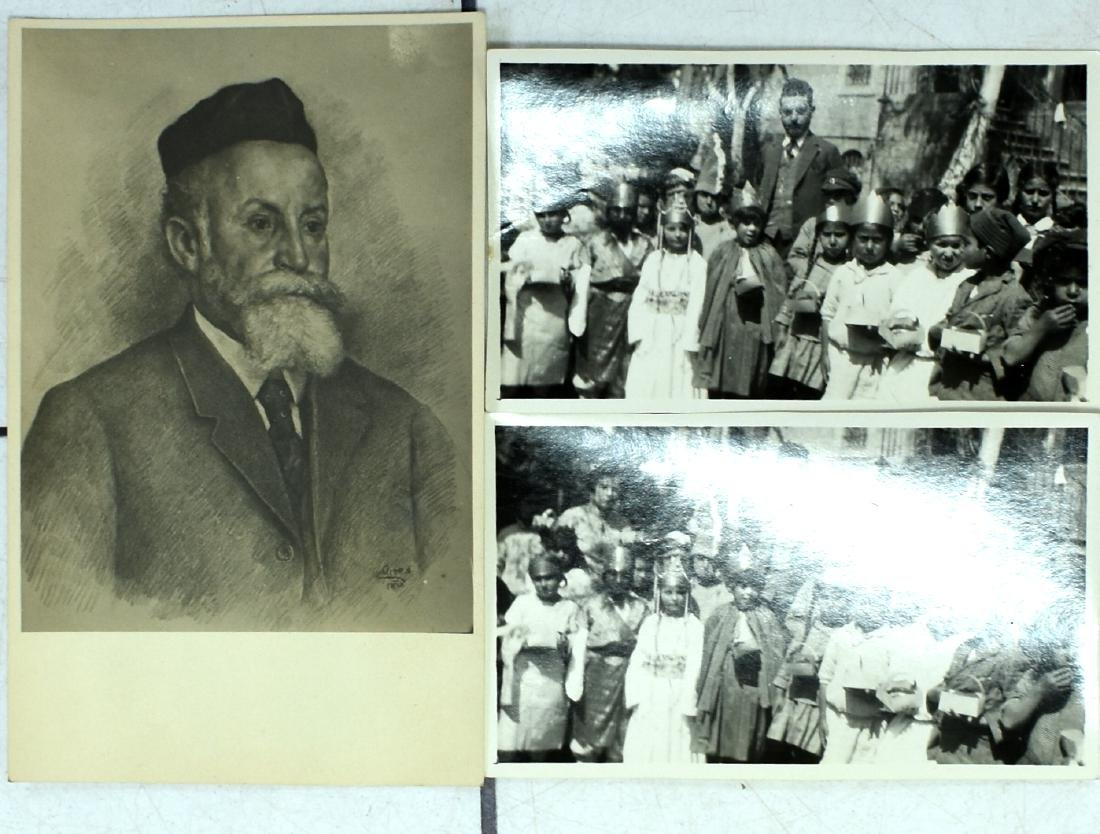 A pair of photographs of a girls 'school and a postcard - 2