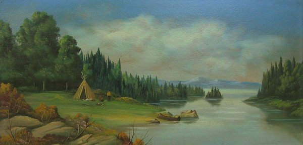 "2: A.R. PROVONSHA ""Northwest Scene"" 1920's"