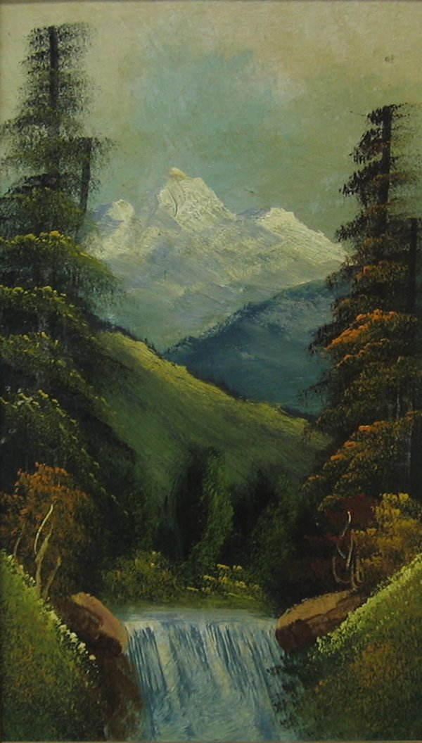 "6: ROBERT W. WOOD ""Mountain Waterfall"""
