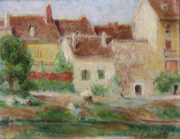 """10: FRANK C. ASHFORD """"Paris Scene"""" 1909"""