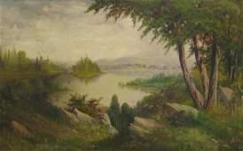 60: J.J. ENGLEHART Western Landscape Ca. 1890