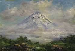 """89: M. BATES """"Mt. Shasta"""", California Plein Air"""