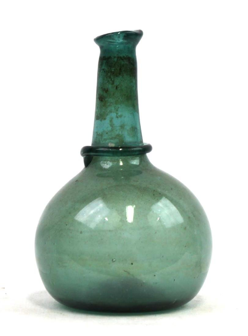 Probably Spanish 16-17 Century Glass Bottle