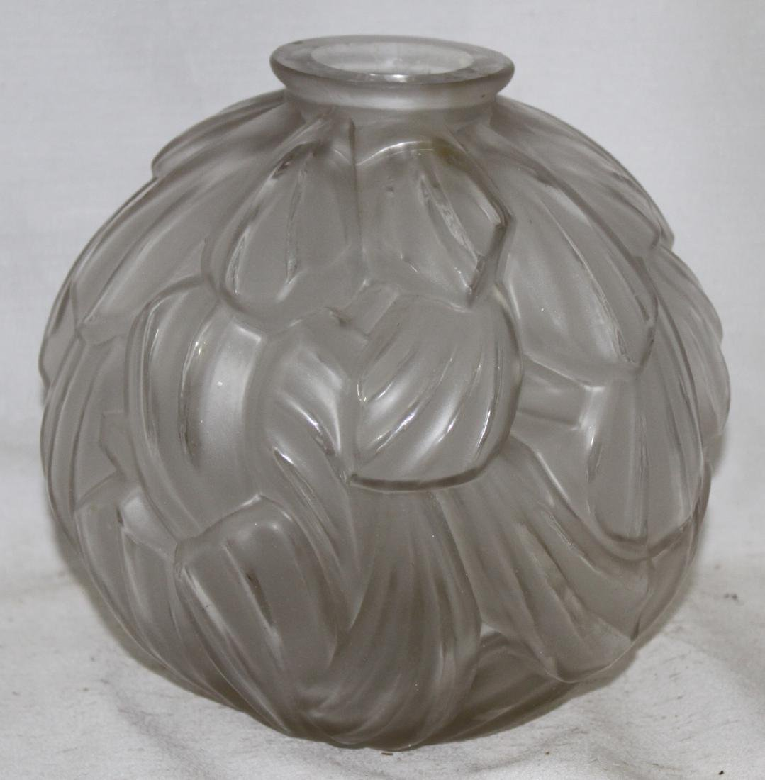 French Glass Vase by Carrillo