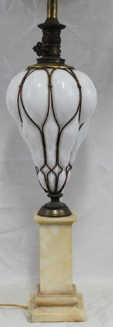 Italian Murano Mid Century Glass Lamp Base.